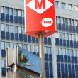 Barcelona metro sign - Stock Photo