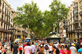 La Ramblas, Barcelona — Stock Photo