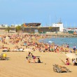 Barceloneta beach (Barcelona, Spain) — Stock Photo