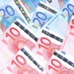 Euro banknotes — Stock Photo