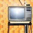 old tv set — Stock Photo