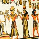Egyptian painting — Stock Photo