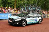 Omega Pharma team in the Tour de France — Stock Photo