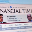 Financial times — Stock Photo #51279973