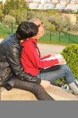 Romance v paříži — Stock fotografie