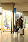 Charles de Gaulle airport in Paris — Stock Photo
