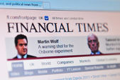 Financial times — Stock Photo