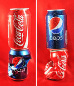 Coca Cola vs. Pepsi — Stock Photo