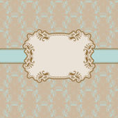 Template frame design for greeting card . — Stockvector