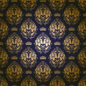 Damask seamless floral pattern — Stockvector