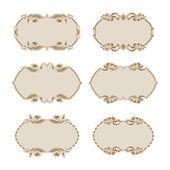 Set of ornate vector frames — Stock Vector