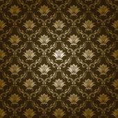 Damaškové bezešvé květinový vzor — Stock vektor