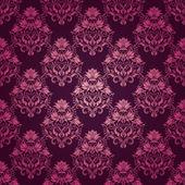 Damast naadloze bloemmotief — Stockvector