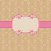 Template frame design for greeting card . — 图库矢量图片