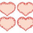 Set of ornate heart frames . — Stock Vector