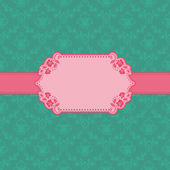 Template frame design for greeting card . — Stock vektor