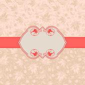 Template frame design for greeting card . — ストックベクタ
