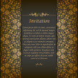 Elegant background with lace ornament — Vektorgrafik