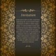 Elegant background with lace ornament — Imagen vectorial
