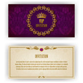Elegant template for vip luxury invitation — Stock Vector