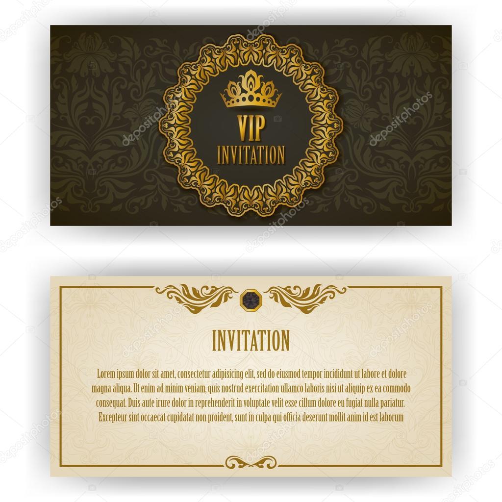 elegant template for vip luxury invitation stock vector juli