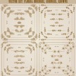 Vector set of gold decorative borders, frame — Stock Vector
