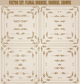 Vector set of gold decorative borders, frame — Vetorial Stock