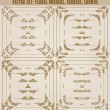 Vector set of gold decorative borders, frame — Vettoriali Stock