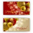 Christmas Background with baubles for inviations — Vektorgrafik