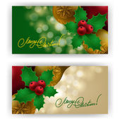 Christmas Background with baubles for inviations — Stock Vector