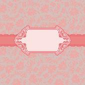 Template frame design for greeting card . — Vector de stock