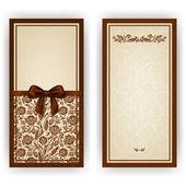 Elegant vector template for invitation, card — Stock Vector