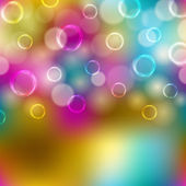 Festive background with bubbles, bokeh — Stock Vector