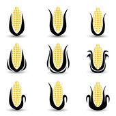 Corn Icon or symbol vector set — Stock Photo