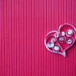 Heart of paper quilling for Valentine's day — Stock Photo #40210601