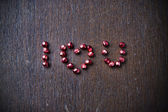 Background with text I love you for Valentine's day — Stock fotografie
