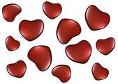 Tło z serca na Walentynki — Zdjęcie stockowe