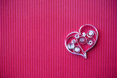 Heart of paper quilling for Valentine's day — 图库照片