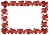 Frame of hearts on Valentine's Day — Stock Photo