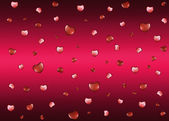 Background with hearts on Valentine's Day — Stock Photo
