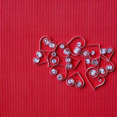 Hearts of paper quilling for Valentine's day — Photo
