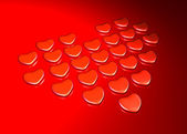 Background with hearts on Valentine's Day — Стоковое фото