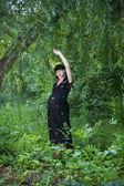 Mujer embarazada relajante — Foto de Stock