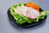 Chicken roulade on salad. — Foto de Stock
