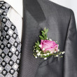 Stock Photo: Groom's boutonniere