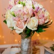 Wedding bouquet of orchids and roses — Stock Photo