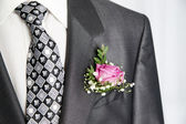 Groom's boutonniere — Stock Photo