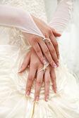 Bride's hands — Stock Photo