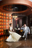 Portrait of newlyweds — Foto Stock