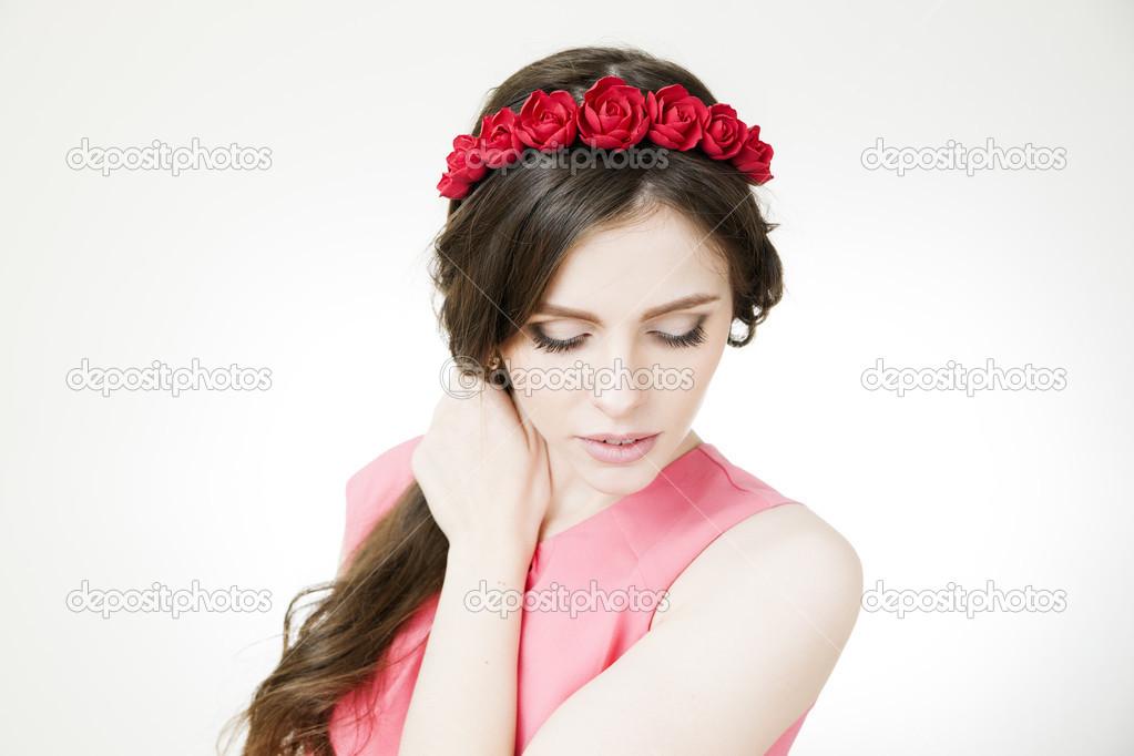 Ободки с красными цветами